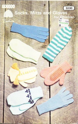 Patons Socks,Mitts and Gloves for Children 140 (Beehive Knitting Patterns) -