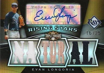 2009 Triple Threads Evan Longoria Auto Bat Jersey /25