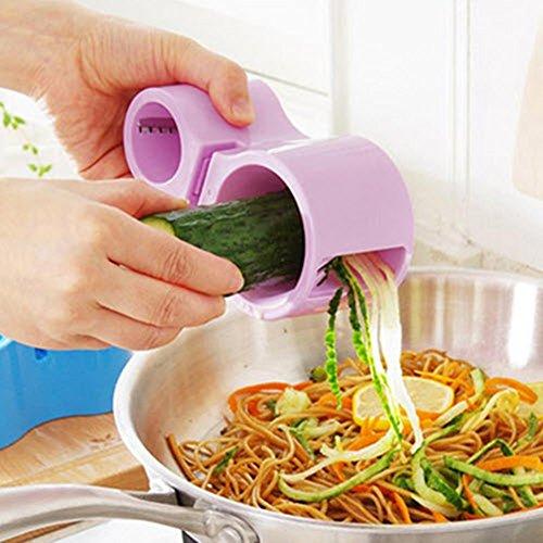 Knife Sharpener Double Site Spiral Fruit Cutter Sharpener Knife Vegetable Slicer Multi Function Graters Kitchen Cooking Tool