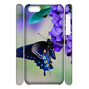 Butterfly CUSTOM 3D Cover Case for iPhone 5C LMc-89818 at LaiMc
