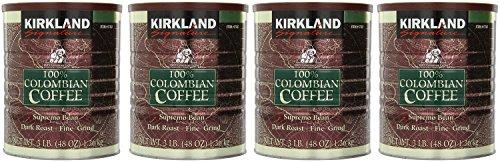 Signature EzeeSB 100% Colombian Coffee Supremo Bean Dark Roast-Fine Grind, 4Pack of 3 Pound Dark Roast by Signature