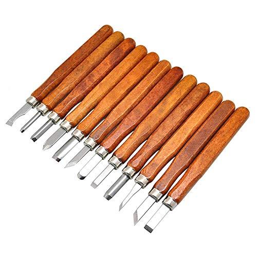 12 Set SK5 Carbon Steel Wax & Wood Carving Tools Cuchillo Kit Para Goma, Calabaza Pequeña, Jabón, Verduras Y Más Para...