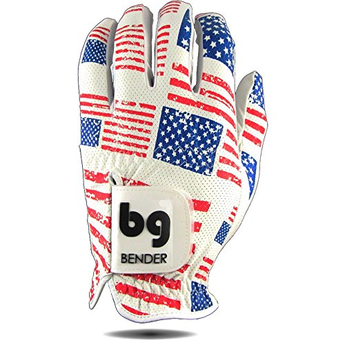 Bender Gloves Mesh Golf Gloves for Men, Cabretta Leather, Worn on Left Hand (USA, Large) ()