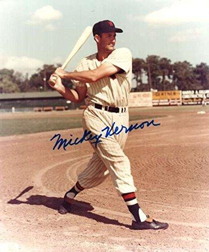 Washington Senators Baseball Photo - Signed 8x10 Photo Mickey Vernon Washington Senators - Autographed Baseball Photos