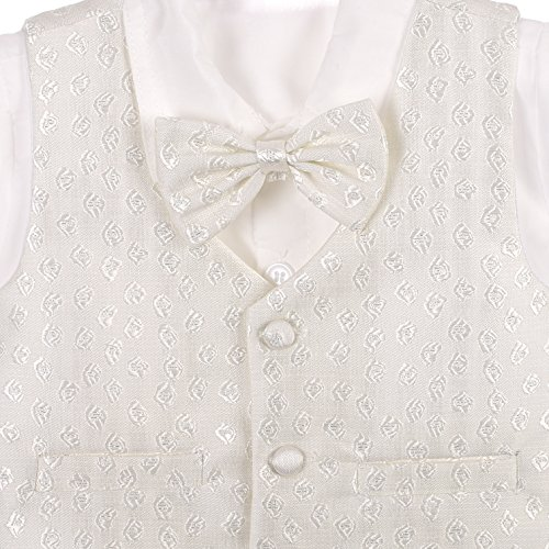 Dressy Diasy Baby Boys Formal Suit WearWedding Outfit Baptism Christening Outfit with Bonnet