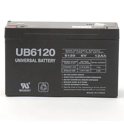 Universal Power Group 6V 12Ah F2 SLA Battery Replaces Zareba ESP10M Fence Charger: Electronics