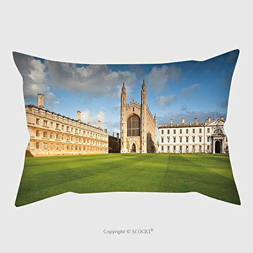 Custom Satin Pillowcase Protector Cambridge University And Kings College Chapel 89321782 Pillow Case Covers Decorative by chaoran