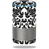 MightySkins Skin Amazon Echo (2nd Gen) - Black Damask | Protective, Durable Unique Vinyl Decal wrap Cover | Easy to Apply, Remove Change Styles | Made in The USA