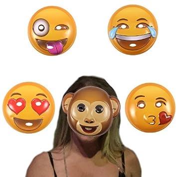 Emoticon Maske 5er Set Emoji Maske Kunststoff Party Hochzeit Fotobox
