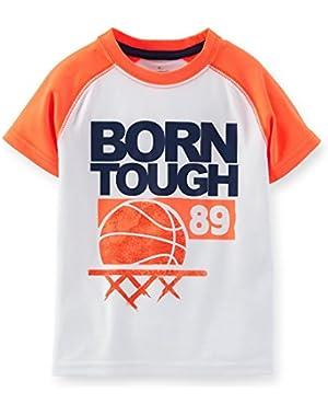 Carter's Boy's Born Tough Active Tee, Orange, 2t