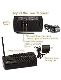 Alarma inalámbrica Driveway Informer para conducción, alarma de conducción hecha en EE. UU., transmisor de largo alcance de 1000 pies y receptor incluido en el sensor de alarma Kit-Driveway Detecta vehículos y personas, ideal para el hogar y la empresa