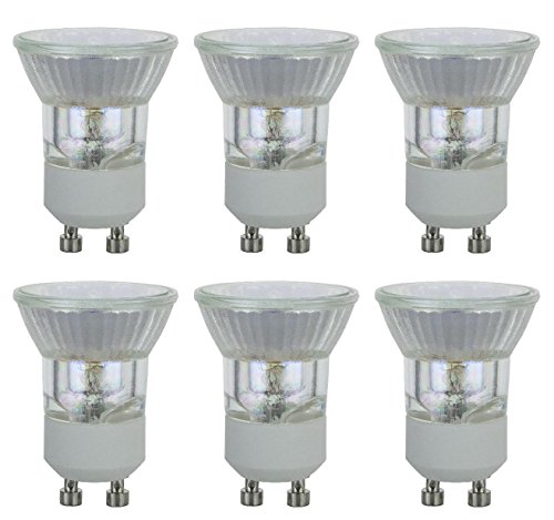 Pack of 6 Q35MR11/FTH/FL/GU10/CG 35 Watt MR11 With UV Glass Cover GU10 Turn Lock Base Halogen Bulb 120 Volt 35w GU10 Halogen Light Bulb