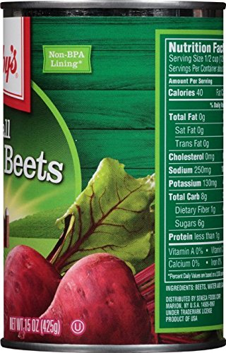 Libby's Small Whole Beets Cans, 15 Ounce (Pack of 12)