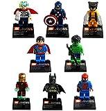 Super heroes The Avengers Figures Superman Batman Iron Man Hulk Wolverine Minifigures building blocks Compatible with lego toys mu?eca Figura de h?roes ni?os (WITHOUT original boxes)