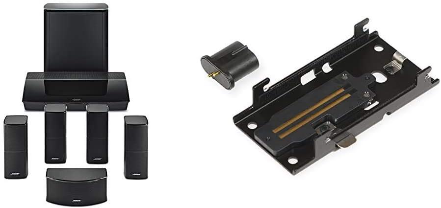 Bose Lifestyle 600 Home Entertainment System, Works with Alexa - Black & WB-50 Series II Slideconnect Bracket - Black