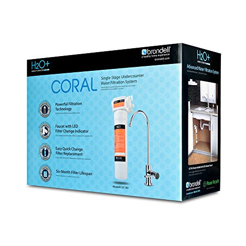 Brondell UC100 H2O+ Coral Single-Stage Under counter Water Filtration System with Over 99% Lead Reduction, Chrome by Brondell (Image #5)