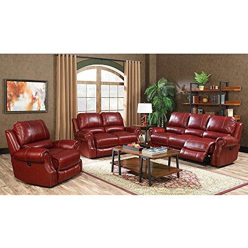 Cambridge 98533A3PC-Wine 3 Piece Rustic Living Room Set