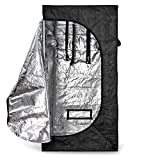 Flexzion Grow Tent 32″x32″x63″ Reflective Mylar Hydroponics Hut Cabinet Room with Zipper and Window View For Indoor Plant Flower Vegetable Growing Gardening Greenhouse Review