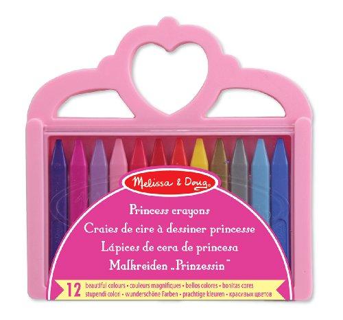 - Melissa & Doug Princess Crayon Set - 12 Colours