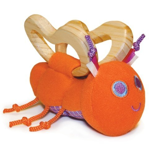 トップ P'kolino Butterfly Teether Rattle P'kolino - Orange by Rattle P'Kolino Teether B0044W7DIM, トオス通販:ca7a88ee --- a0267596.xsph.ru