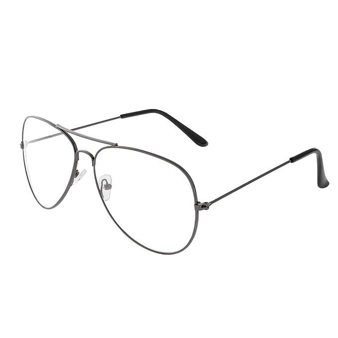 Forepin® Montura Gafas de Aviador para Unisex Hombre y Mujer con Montura de Metal-