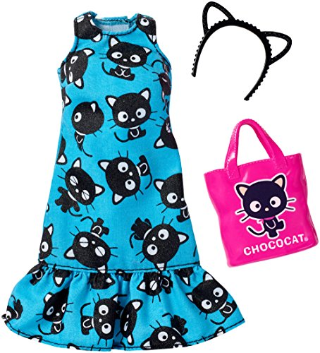 Barbie Fashions Hello Kitty Blue Cat Dress (Headband Barbie)