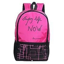 POLE STAR HERO 32 Lt Pink Black Casual Backpack I bagpack