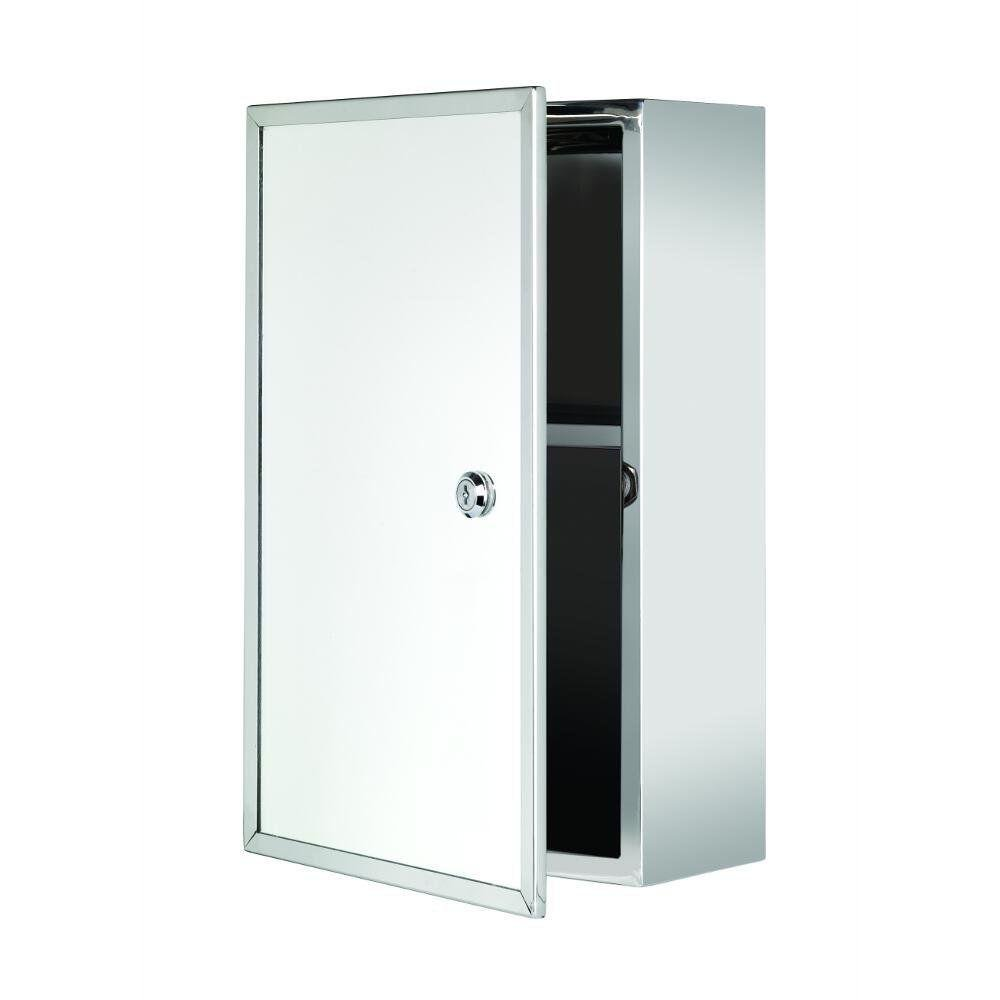 Croydex WC846005YW Trent Lockable Med Cabinet (Stainless) WC846005AZ