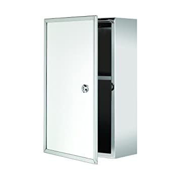 croydex trent stainless steel lockable surface mount medicine cabinet with keys 157 x 98 x