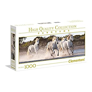 Clementoni Collection Panorama Puzzle Running Horses 1000 Pezzi 39441