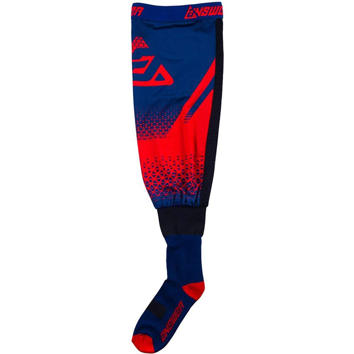 Answer Racing Knee Brace Adult Off-Road Motocycle Socks - Red/Midnight/Small/Medium