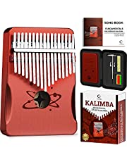 $27 » Kalimba 17 Keys Thumb Piano with Premium Mahogany Wood - Waterproof Protective Hardcase - Portable Mbira Finger Piano with FREE Application for beginners and Pro - Perfect Gift for Kids and Adults