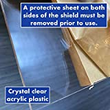 Sneeze Guard   Protective Freestanding Shield