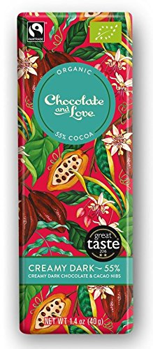 Chocolate And Love Creamy Dark Chocolate With Cacao Nibs 55
