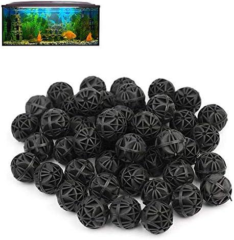Hamiledyi Bio Balls Filter Media 100/200 Pcs, Aquarium Ponds Pad 1/2 Pack - Premium True Dual Density - Biological Filtration Rings with Media Bags