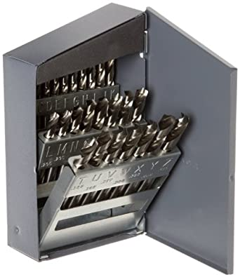 TiN Coated Chicago Latrobe 2159 High-Speed Steel Short Length Drill Bit Round Shank 135 Degree Split Point 11//64 Size Pack of 12