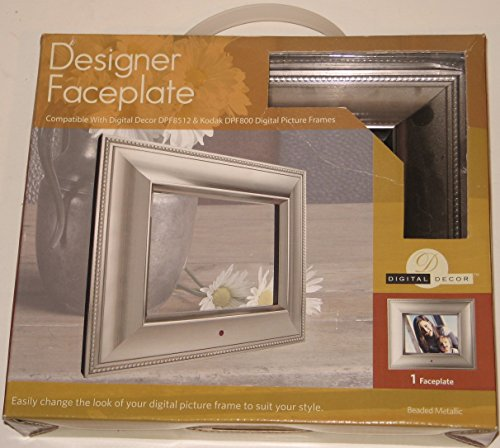 Digital Frame Faceplate Picture - Digital Decor Digital Photo Frame Faceplate - Silver