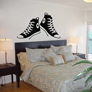 Colorfulhall all star converse shoes wall sticker decals art room decor children room wall decoration classroom