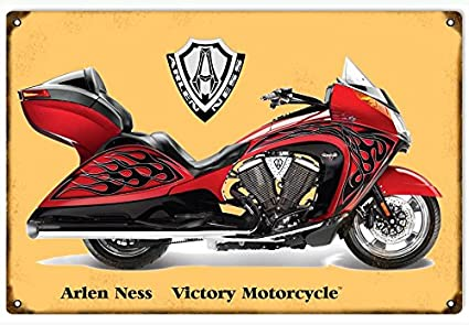 Amazon Com Arlen Ness Victory Motorcycle Sign Home Kitchen