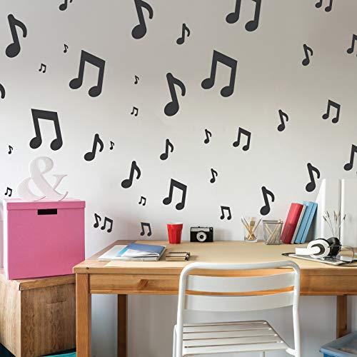 NOTEN 5 St/ück wiederverwendbare Kunststoff-Schablonen //// NOTIZ MUSIK//// 34x34cm bis 9x9cm //// Kinderzimmer-Dekorarion //// Kinderzimmer-Vorlage