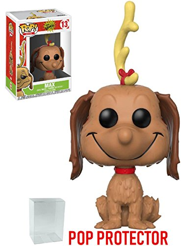 Dr. Seuss The Grinch Max the Dog Pop! Vinyl Figure and (Bundled with PROTECTOR CASE)