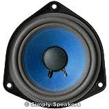 "4-1/2"" Bose 901, Bose 802 Style Replacement Speaker Full Range, Paper Cone, Foam Edge, 1 Ohm, F-901"