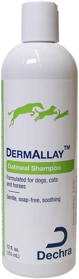 Dechra DermAllay Oatmeal Shampoo for Dogs, Cats & Horses - Gentle, Soap-Free and Soothing
