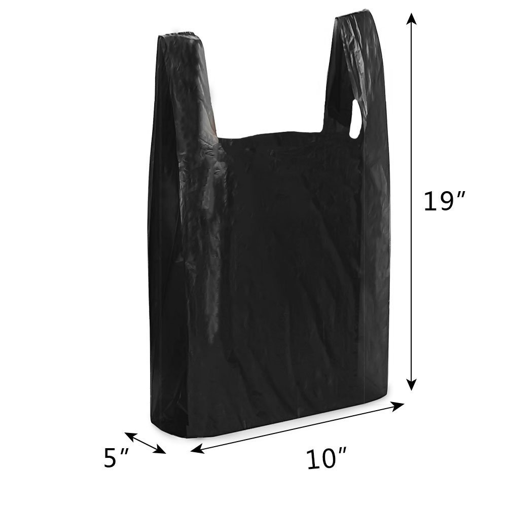 Black t shirt carryout bags - Amazon Com Titan Mall Reusable Plastic Bags Black With Suffocation Warning 800 Ct 8 X5 X16