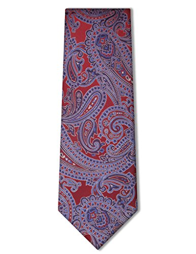 - Origin Ties Classic 100% Silk Elegant Paisley Tie Red.