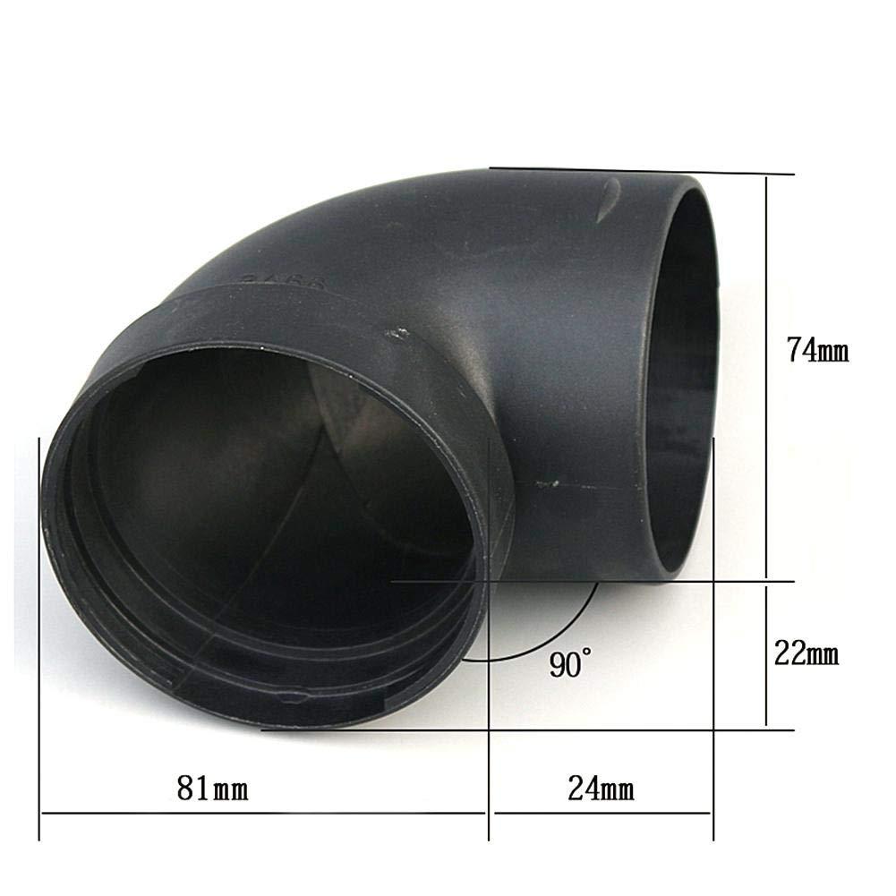 Kunststoff Luftf/ührung Rohrbogen Auslassanschluss Luft Diesel Standheizung Zubeh/ör 75mm