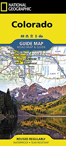 Colorado (National Geographic Guide Map) Map – Folded Map, April 24, 2018