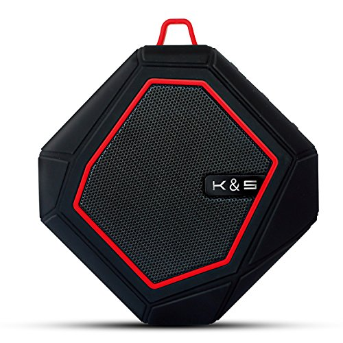 Octagon Wireless Bluetooth Speaker, Hi-Fi 100W PMPO, IPX5 Water Resistance, IPX5 Water Resistant, Perfect Wireless Speaker for Home, Travel, Beach, or Shower, by Kempler & Strauss (Black)