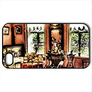 In Tolstoy's House - Case Cover for iPhone 4 and 4s (Houses Series, Watercolor style, Black)