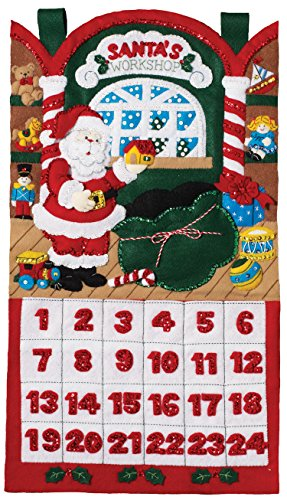 Bucilla Felt Applique Kit, Santa's Workshop